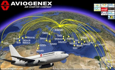 aviogenex-route-map